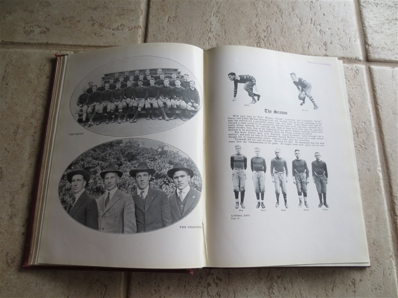 1918 USC School Yearbook with football player pictures and game by game analysis.  Neat!