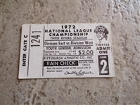 1972 NLCS ticket stub Roberto Clementes Last Home Game!
