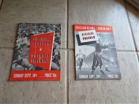 (2) 1941 Green Bay Packers home football programs vs. Bears; Lions