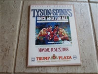 1988 Tyson vs. Spinks Boxing program with LeRoy Neiman cover at Trump Plaza