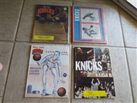 (4) different New York Knicks home basketball programs from 1967-72
