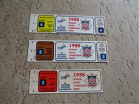 (3) 1988 NLCS Los Angeles Dodgers tickets---last year they won the World Series!