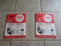 (2) Doubleheader 7-19-59 Dodgers at Phils baseball scored programs plus ticket stubs