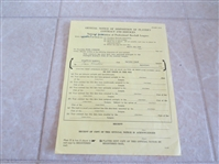 1948 Hollywood Stars PCL Player Contract signed by Oscar Reichow V.P. Secretary  RARE