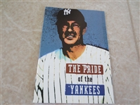 2002 booklet about the 1942 The Pride of the Yankees Lou Gehrig movie by SABR