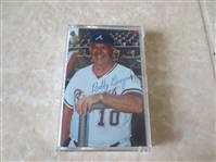 Autographed Bobby Bragan cassette tape Hollywood Stars PCL & Atlanta Braves manager