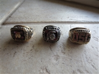 (3) 1978, 79 USC Championship Football Gold Player Rings
