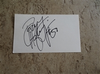 "Autographed Benny Agbayani 3"" x 5"" card  Mets, Rockies, Red Sox, Japan"