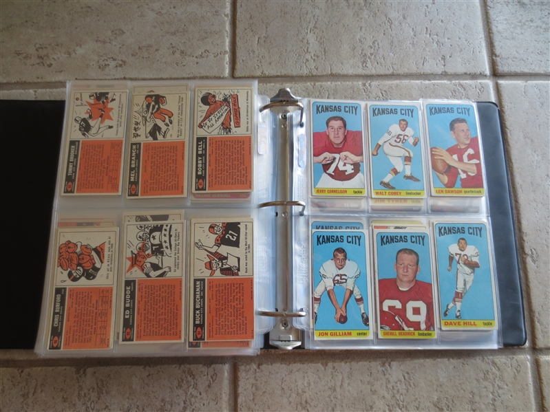 1965 Topps Football Card Complete Set