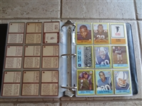 1967 Philadelphia Football Card Complete Set in BEAUTIFUL Condition missing Saints Insignia card