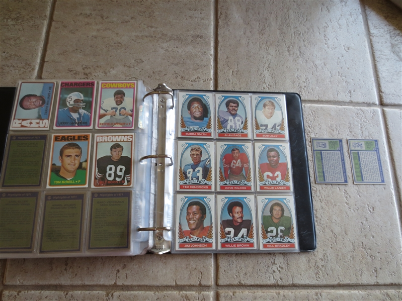 1972 Topps Football Card Complete Set with Tough Last Series in Very Nice Condition!