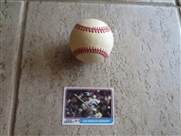 Autographed Steve Garvey baseball plus 1974 Topps Garvey baseball card