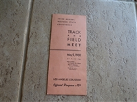 1950 Third Annual Western State Conference Track and Field Meet Program