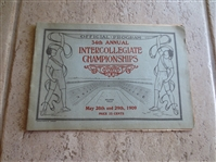 1909 34th Annual Intercollegiate Championships Track Program at Soldiers Field, Cambridge with Hall of Famers