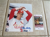 Autographed Steve Carlton color photo with JSA Certification