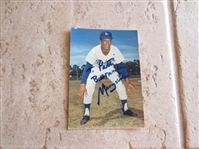 "Autographed Maury Wills 3.5"" x 7"" color photo"