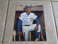 "Autographed Ernie Banks 8"" x 10"" color photo"