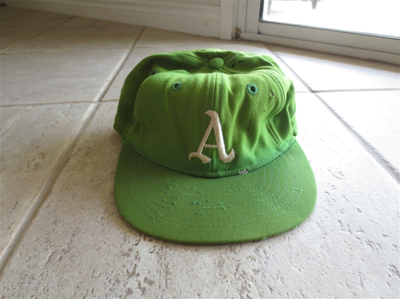 1969 Oakland A's Game Worn Cap---one year style