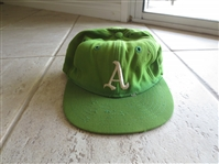1969 Oakland As Game Worn Cap---one year style