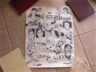Autographed 1988 Baseball Legends Golf Scramble Poster signed by 16 superstars
