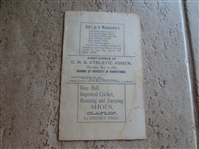1887 Philadelphia Central High School Track and Field Program/Scorecard