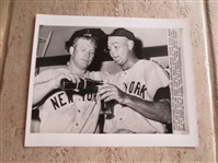 1961 Mickey Mantle Wire Photo where Mantle homers and doubles vs. Orioles