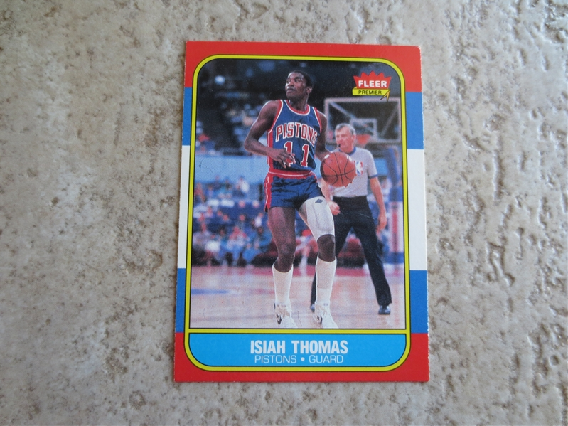 1986-87 Fleer Isiah Thomas Rookie Basketball Card in Beautiful Condition!