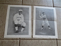 (2) Vintage Japanese Baseball Magazine Supplements of unknown players