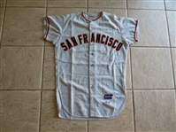 1965 Jesus Alou Game Worn San Francisco Giants Road Jersey #14 Spalding Size 42  WOW!