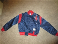 1980s Cleveland Indians Game Worn Jacket #28 probably Cory Snyder but could be Bert Blyleven