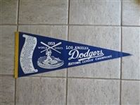 1959 World Series Scroll Pennant Los Angeles Dodgers National League Champs 29.5""